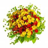 beautiful gerberas and roses