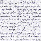 pic of cursive  - Seamless abstract handwritten text retro vector pattern - JPG