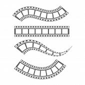 Film Strip Cinema Strip Roll  Blank Slide Frame  Photo Video Monochrome Picture Negative Vintage Med poster