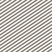 Diagonal Stripes Seamless Pattern. Simple Black And White Slanted Lines Texture. Modern Vector Abstr poster