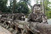 picture of asura  - Ancient Khmer statues of Asuras - JPG