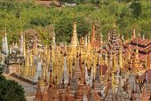 The Scenery View Of Shwe Indein Pagoda (or Shwe Inn Thein Pagoda), Indein Is A Small Village West Of poster