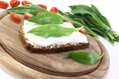 Ramson Bread With Cottage Cheese