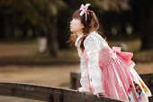 japanese girl in lolita cosplay style
