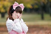 portrait of japanese in sweet lolita cosplay