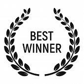 Best Winner Award Icon. Simple Illustration Of Best Winner Award Vector Icon For Web Design Isolated poster
