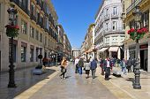 MALAGA, SPAIN - MARCH 12: Calle Larios on March 12, 2012 in Malaga, Spain. This 300 meters long stre