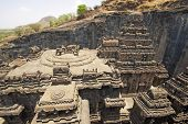 foto of ellora  - Ancient Hindu Temple  - JPG