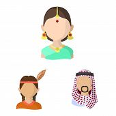 Vector Illustration Of Nation And Race Icon. Set Of Nation And User Vector Icon For Stock. poster