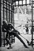 stock photo of slave-house  - The death of a gladiator - JPG