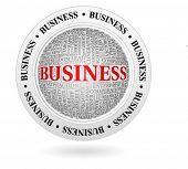 business - round emblem