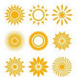 conjunto de ícones do sol