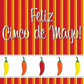 picture of jalapeno peppers  - Cinco de Mayo chili pepper greeting cards in vector format - JPG