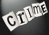 Kriminalität-Konzept.