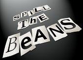 Spill The Beans Concept.
