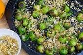 Baked Brussels Sprouts With Bread Crumbs