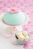 Macarons And A Decorated Cake