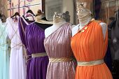stock photo of tunic  - The tunics are at a greek market - JPG