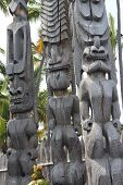 Tiki Statues on Hawaii Big Island