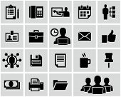 Office and business icons set.