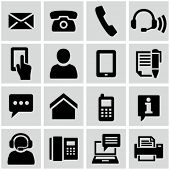 stock photo of social housing  - Contact us icons set - JPG