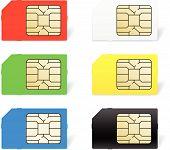 foto of micro-sim  - Sim card set - JPG