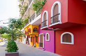 image of tilt  - Colorful apartment building in Puerto Vallarta - JPG