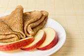 Russian Crepes With Apple