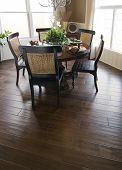Hardwood Flooring In Dinning Room