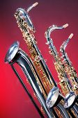 Set Of Three Saxophones