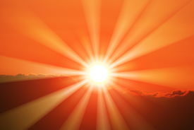 foto of sun rays  - view of the beautiful sun and rays - JPG