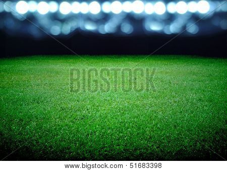 Soccer Field And The Bright Lights poster