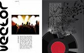 Vector Music brochure, magazine cover and poster template
