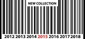New Collection 2015 Price Bar Code