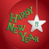 foto of happy new year 2013  - Happy New Year 2013 Patchwork Illustration - JPG