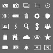 Photography Icons On Gray Background