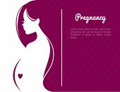 stock photo of maternal  - Vector illustration of Pregnant woman - JPG