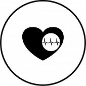 heart with electrocardiogram symbol