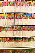 Rows of files