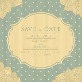 Save the Date  vintage style scrapbooking