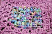 Multiple Colored Granny Square with Purple