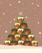 Christmas Pudding Background