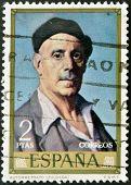 stamp printed in Spain shows self-portrait of Ignacio Zuloaga