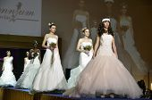 GRANADA SPAIN - NOVEMBER 17, 2012: models walks the catwalk at the First Bridal Fair Granada