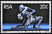 A stamp printed in RSA shows scene of raka ballet
