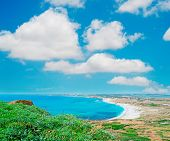 White Clouds Over Sardinia