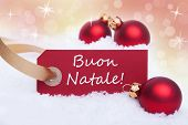 Red Label With Buon Natale