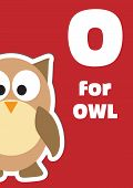 O For The Owl, An Animal Alphabet For The Kids