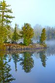 Morning Reflections On A Wildereness Lake