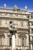 León Alado Piazza Delle Erbe en Verona
